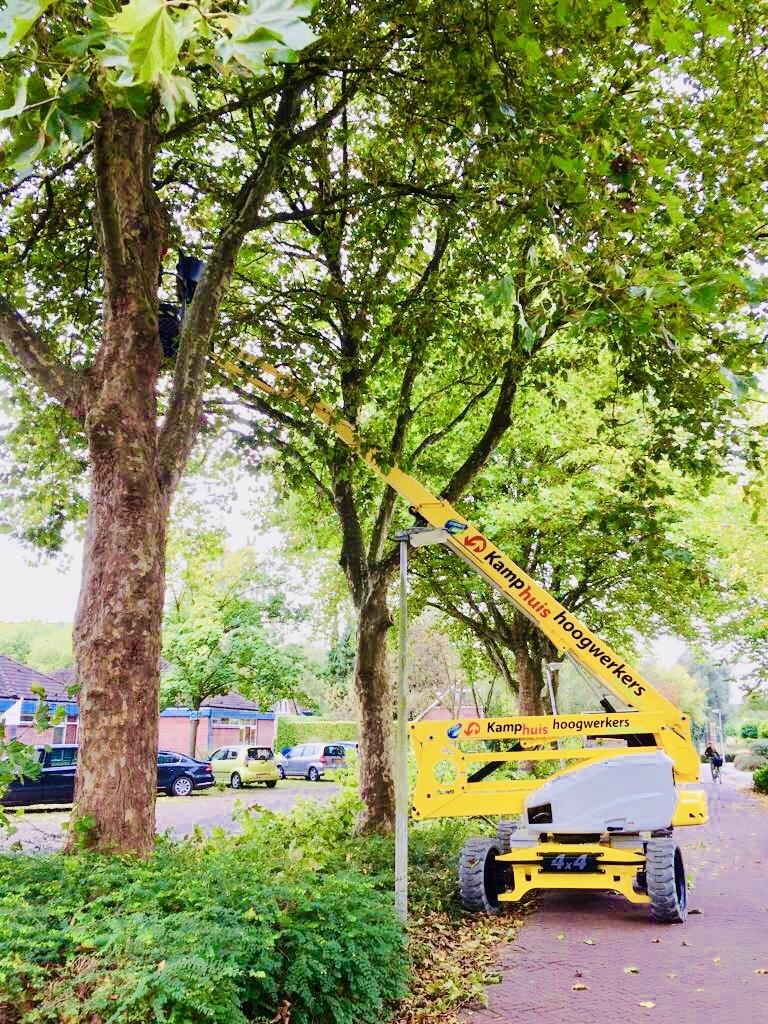 21 meter zelfrijdende hybride, bomen snoeien (2)
