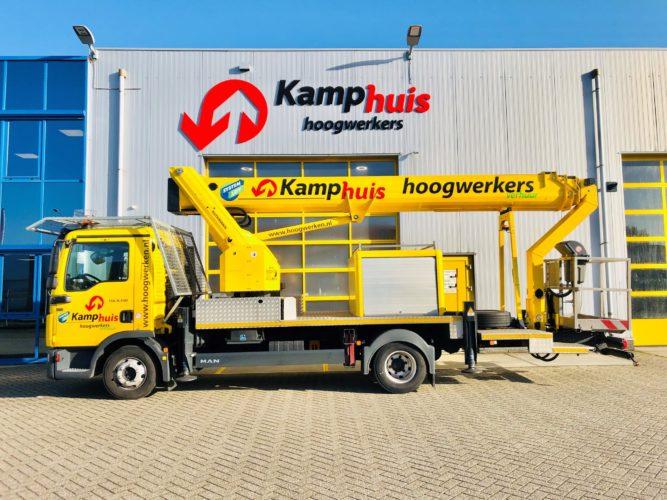 33 meter vrachtwagenhoogwerker met cabine bescherming 2