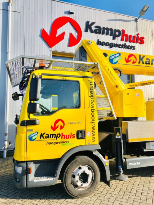 33 meter vrachtwagenhoogwerker met cabine bescherming