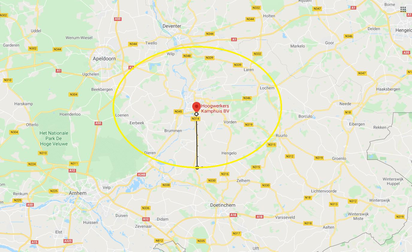 Gratis bezorgen rondom Zutphen