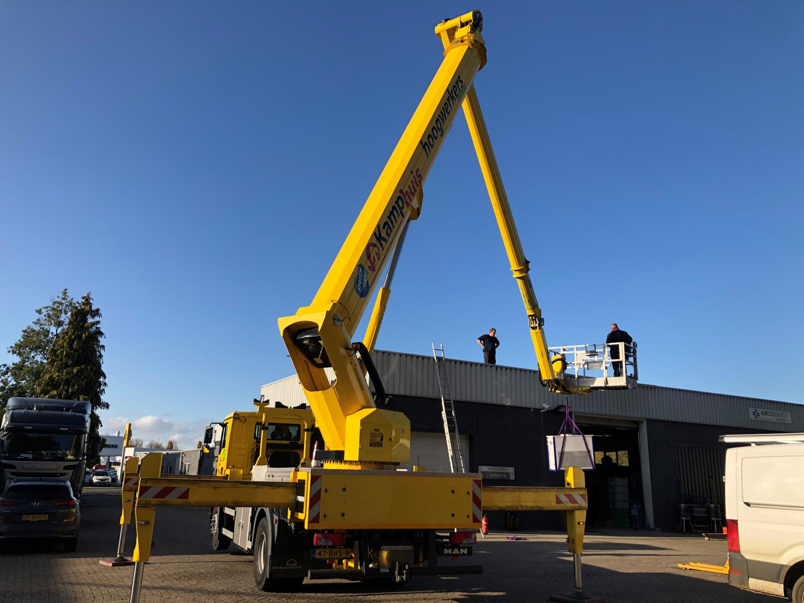Tilhulp Lift-ups systeem vrachtautohoogwerker