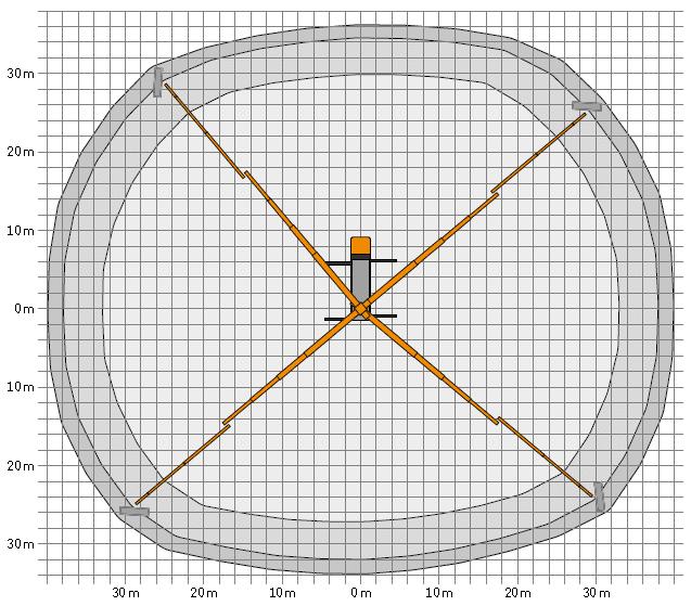 Werkdiagram 57 meter vrachtauto 100-100 bovenkant